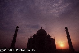 Taj Mahal at dusk, India
